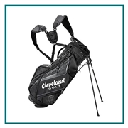 Cleveland Golf Black Stand Bag with Custom Embroidery, Custom Embroidered Cleveland Golf Stand Bags, Cleveland Golf Custom Logo Bags, Custom Cleveland Golf Golf Bags