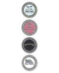 Bling Ball Marker with Custom Logo, Custom Poker Chip Ballmarkers, Custom Logo Ballmarkers, Custom Ballmarkers, Promotional Poker Chip Markers
