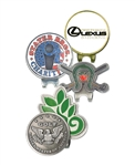 Custom Magnetic Shaped Cap Clip, Marker with Custom Logo, Custom Ballmarkers, Custom Logo cap clips, Custom cap clips, Promotional ball markers