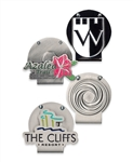 Over-Under Cap Clip, Marker with Custom Logo, Custom Ballmarkers, Custom Logo cap clips, Custom cap clips, Promotional ball markers