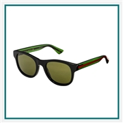 Gucci Unisex Round-frame Sunglasses Custom Branded