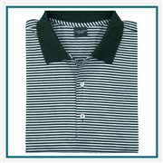 Fairway & Greene Bar Stripe Lisle Polo Custom Logo