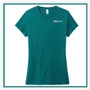District Made Ladies Perfect Tri Crew Tee with Custom Embroidery, Custom Embroidered District Made T-Shirts, District Made DM130L T-Shirt Best Price