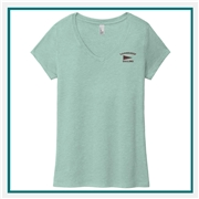 District Made Ladies Perfect Tri V-Neck Tee with Custom Embroidery, Custom Embroidered District Made T-Shirts, District Made DM1350L T-Shirt Best Price