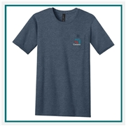 District Men's Very Important Tee with Pocket DT6000P Custom Embroidered,  District T-shirts Personalized