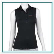 Fairway & Greene Ladies' Natalie Sleeveless Polo Custom Embroidery, Fairway&Greene Corporate Polos, Fairway&Greene Branded Polo