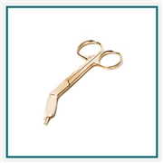 ADC 4 1/2 Gold Bandage Scissors Custom Engraving