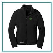 Eddie Bauer Ladies Full-Zip Fleece Jacket with Custom Logo Embroidered, Eddie Bauer Personalized Fleece Jackets, Eddie Bauer Corporate Logo Gear