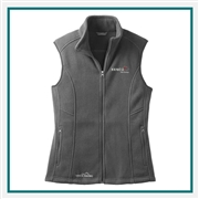 Eddie Bauer Ladies Fleece Vest EB205 with Custom Embroidery, Eddie Bauer Custom Fleece Vests, Eddie Bauer Custom Logo Gear