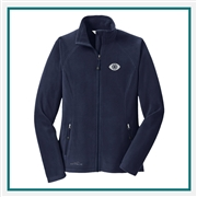Eddie Bauer Ladies Full-Zip Microfleece Jacket EB225 with Custom Embroidery, Eddie Bauer Custom Fleece Jackets, Eddie Bauer Custom Logo Gear