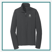 Eddie Bauer Men's 1/2-Zip Microfleece Jacket with Custom Embroidery, Eddie Bauer Custom Jackets, Eddie Bauer Custom Logo Gear