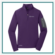 Eddie Bauer Ladies 1/2-Zip Performance Fleece Jacket EB235 Embroidered Logo