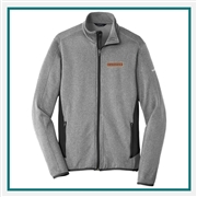 Eddie Bauer Men's Full-Zip Heather Stretch Fleece Jacket EB238 with Custom Embroidery, Eddie Bauer Custom Fleece Jackets, Eddie Bauer Custom Logo Gear