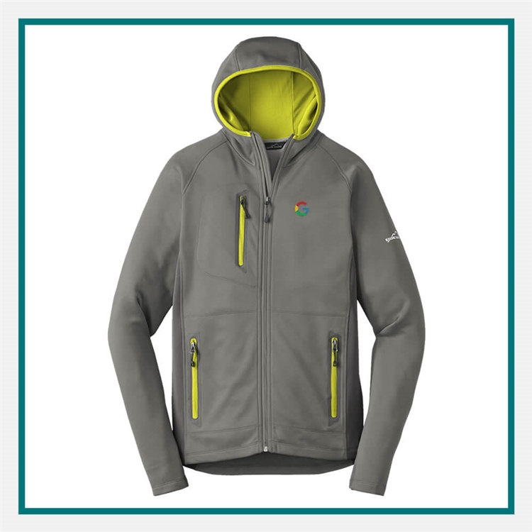 5cd660340d5 Eddie Bauer Men s Sport Hooded Full-Zip Fleece Jacket EB244 with Custom  Embroidery