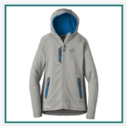 Eddie Bauer Ladies Sport Hooded Full-Zip Fleece Jacket EB245 with Custom Embroidery, Eddie Bauer Custom Fleece Jackets, Eddie Bauer Custom Logo Gear