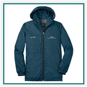 Eddie Bauer Men's Packable Wind Jacket EB500 with Logo Embroidery