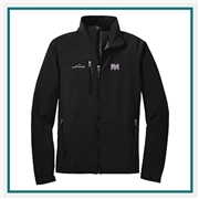 Eddie Bauer Men's Soft Shell Jacket EB530 with Custom Embroidery, Eddie Bauer Custom Soft Shell Jackets, Eddie Bauer Custom Logo Gear
