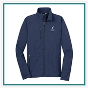 Eddie Bauer Men's Shaded Crosshatch Soft Shell Jacket EB532 with Custom Embroidery, Eddie Bauer Custom Soft Shell Jackets, Eddie Bauer Custom Logo Gear