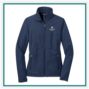 Eddie Bauer Ladies Shaded Crosshatch Soft Shell Jacket EB533 with Custom Embroidery, Eddie Bauer Custom Soft Shell Jackets, Eddie Bauer Custom Logo Gear