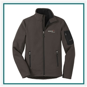 Eddie Bauer Men's Rugged Ripstop Soft Shell Jacket EB534 with Custom Embroidery, Eddie Bauer Custom Soft Shell Jackets, Eddie Bauer Custom Logo Gear