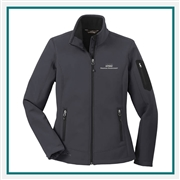 Eddie Bauer Ladies Rugged Ripstop Soft Shell Jacket Embroidered Logo