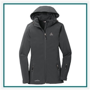 Eddie Bauer Ladies Hooded Soft Shell Parka EB537 with Custom Embroidery, Eddie Bauer Custom Soft Shell Jackets, Eddie Bauer Custom Logo Gear