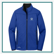 Eddie Bauer Ladies Weather-Resist Soft Shell Jacket EB539 with Custom Embroidery, Eddie Bauer Custom Soft Shell Jackets, Eddie Bauer Custom Logo Gear