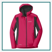 Eddie Bauer Ladies Trail Crosshatch Soft Shell Jacket EB543 with Custom Embroidery, Eddie Bauer Custom Soft Shell Jackets, Eddie Bauer Custom Logo Gear