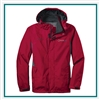 Eddie Bauer Men's Rain Jacket EB550 with Custom Embroidery, Eddie Bauer Custom Jackets, Eddie Bauer Custom Logo Gear