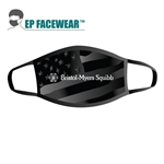 Grey Am. Flag Performance Face Mask Custom Printed