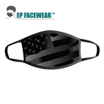 Grayscale American Flag Performance Face Mask
