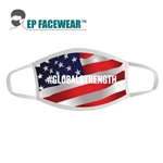 American Flag Global Strength Face Mask Custom Printed
