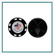 Custom Poker Marker Chip with Custom Logo, Custom Poker Chip Ballmarkers, Custom Logo Ballmarkers, Custom Ballmarkers, Promotional Poker Chip Markers