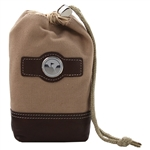 Eisinger Smith Leather & Canvas Drawstring Valuables Pouch with Custom Logo, Eisinger Smith Custom Logo Golf Valuables Pouchs, Eisinger Smith Corporate Bags