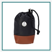 Eisinger Smith Mesa Leather & Canvas Drawstring Valuables Pouch with Custom Logo, Eisinger Smith Golf Valuables Pouchs, Eisinger Smith Corporate Bags