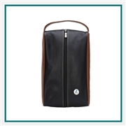 Eisinger Smith Mesa Leather Shoe Bag with Custom Logo, Eisinger Smith Custom Logo Golf Shoe Bags, Eisinger Smith Corporate Bags