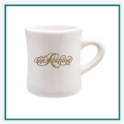 10 Oz Diner Mug with Custom Printed Logo, Diner Mug Custom Branded, 1027,  1201, Custom Coffee Mugs