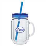 18 Oz. Double Wall Mason Acrylic Mug with Custom printed Logo,  Acrylic Mason Mug, custom drinkware, corporate Drinkware