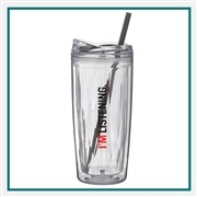 16 Oz Geo Double Wall Acrylic Tumbler with Custom Printed Logo