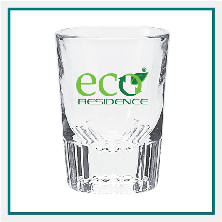 2 Oz Clear Shot Glass with Printed Logo