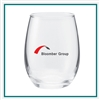 5.5 Oz Perfection Stemless Wine with Custom Printed Logo, Perfection Glass Custom Branded, 214,  Custom Wine Glasses