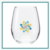 12 Oz Vina Stemless Wine Taster Glass with Custom Printed Logo, Vina Glass Custom Branded, Custom Wine Glasses