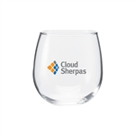16.75 Oz Vina Stemless Red Wine Glass with Custom Printed Logo, Perfection Glass Custom Branded, 222, Custom Wine Glasses
