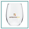 21 Oz Perfection Stemless Wine Glass Company Logo