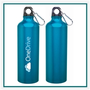 H2GO Aluminum Classic Water Bottle with Custom Printed Logo, H2GO Classic 24 Oz. Custom Logo Bottle, H2GO Custom Logo Drinkware, H2GO Corporate Drinkware