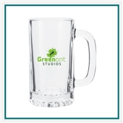 16 oz Tankard Beer Mug with Custom Logo , Custom Logo Beer Glasses, ETS Express Item Number 391, Custom Printed Beer Glassses