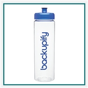 25 Oz. Elgin BPA Plastic PET Water Bottle with Custom Printed Logo, 25 Oz. Elgin Custom Logo Bottle, Custom Logo Drinkware, Water Bottles Corporate