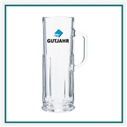 21 Oz. Frankfurt Glass Mug with Custom Logo , Custom Logo Beer Glasses, ETS Express Item Number 5001, Custom Printed Beer Glassses