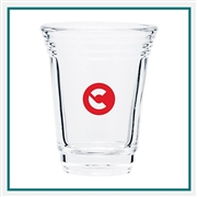 2 Oz. Player Shot Glass with Custom Logo , Custom Logo Shot Glasses, ETS Express Item Number 718, Custom Printed shot Glasses
