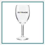 8.5 Oz Citation Wine Glass with Custom Logo, Custom Logo Wine Glasses, ETS Express Item Number 8464, Custom Printed Goblet Glasses